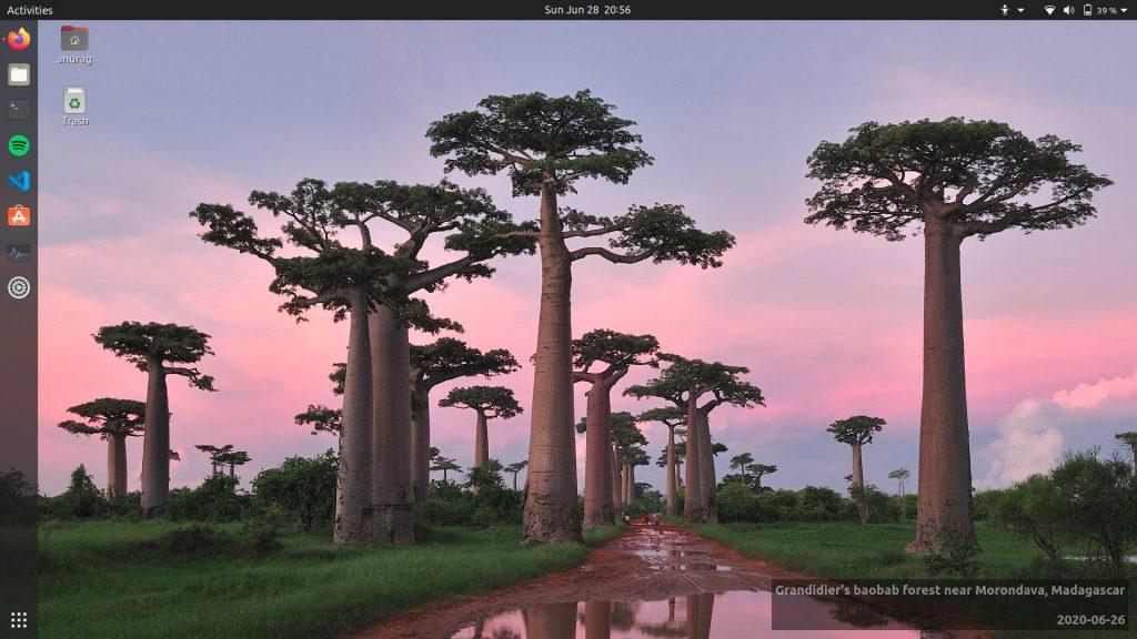 Ubuntu 20.04 running on my new Dell Inspiron 7591